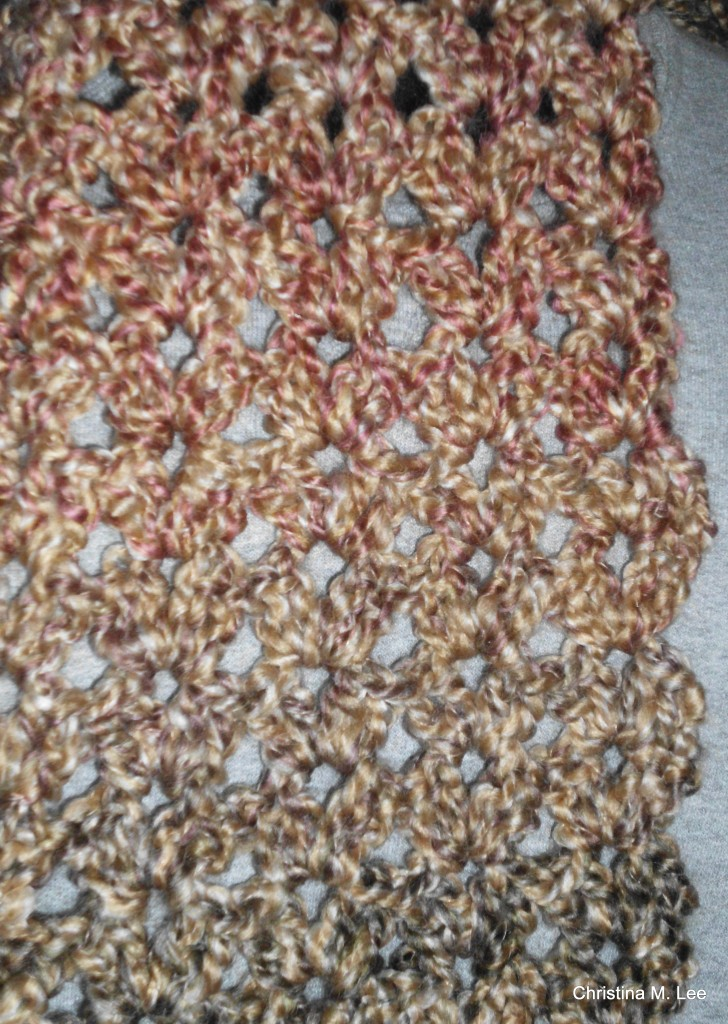 Double V Shell Scarf with Scalloped Edges, Free Crochet ...